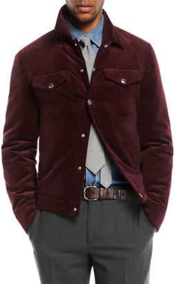Brunello Cucinelli Men's Corduroy Utility Jacket
