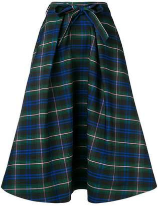 MSGM check flared skirt
