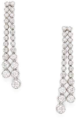 Saks Fifth Avenue Women's Diamond & 14K White Gold Double Drop Earrings