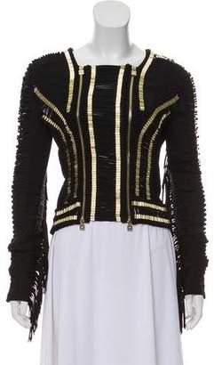 Herve Leger Embellished Zip-Up Jacket