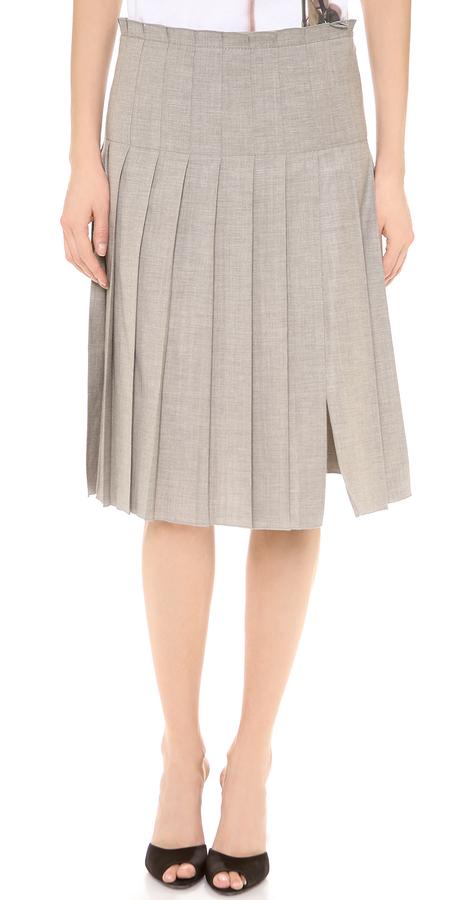No.21 No. 21 Pleated Grey Skirt