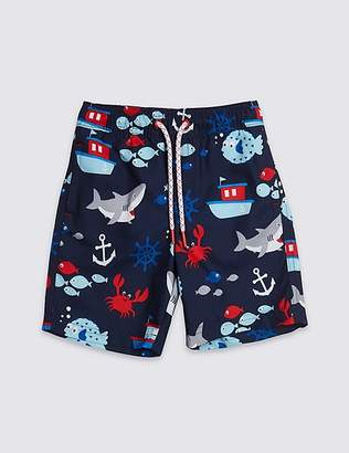 Marks and Spencer All Over Print Swim Shorts (3 Months - 7 Years)