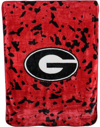 NCAA College Covers Georgia Bulldogs Raschel Plush Throw Blanket