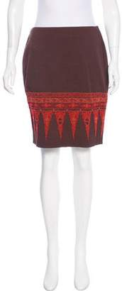 Christian Lacroix Bazar de Embroidered Knee-Length Skirt
