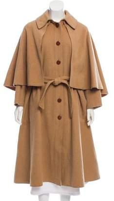 Celine Vintage Cape-Accented Coat