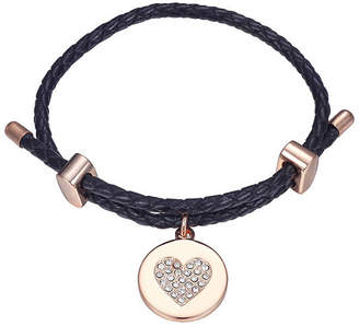 Footnotes Womens Clear Silver Over Brass Bolo Bracelet