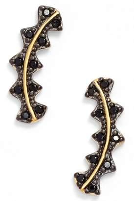 Freida Rothman Harlequin Edge Linear Stud Earrings