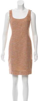 Akris Sleeveless Tweed Dress