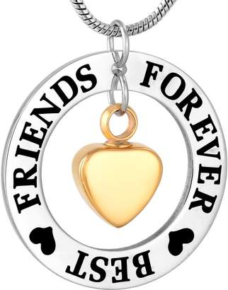 Keepsake constantlife Best Friends Forever Urn Necklace Cremation Jewelry Pendant for Ashes
