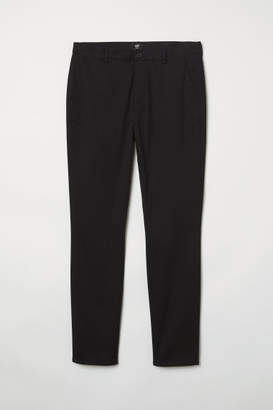 H&M Slim Fit Cotton Chinos - Black