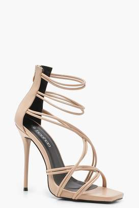 boohoo Strappy Cage Sandals