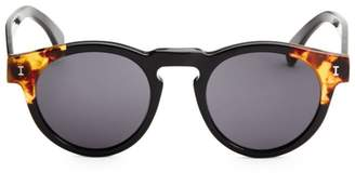 Illesteva Leonard Split Back 48mm Round Sunglasses