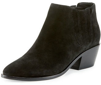Joie Barlow Suede Pointed-Toe Bootie $325 thestylecure.com