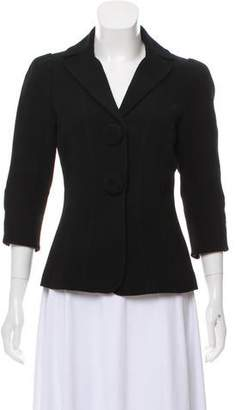 Andrew Gn Notch-Lapel Virgin Wool-Accented Blazer