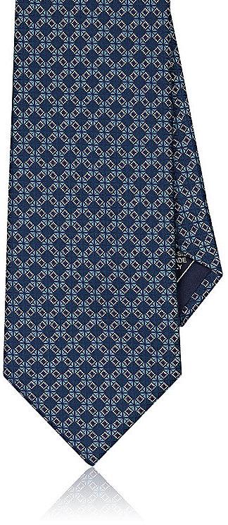 BrioniBrioni Men's Geometric-Print Silk Necktie