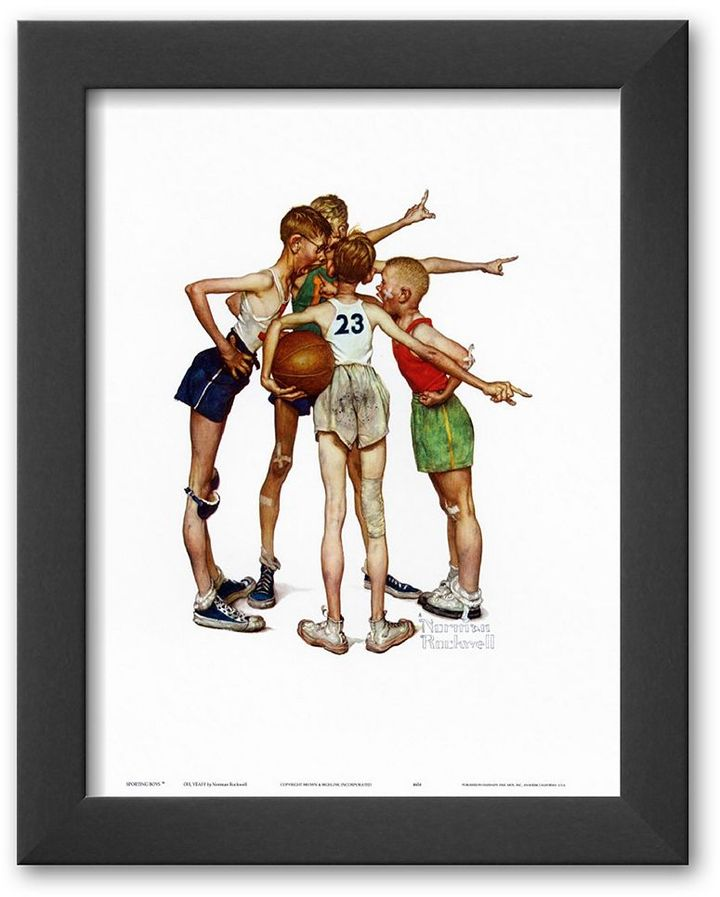 "Rockwell Art.com ""oh, yeah"" framed art print by norman"