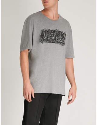 Maison Margiela Scribbled logo-print cotton-jersey T-shirt