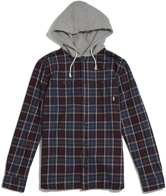 Vans Lopes Hooded Flannel Shirt $69 thestylecure.com