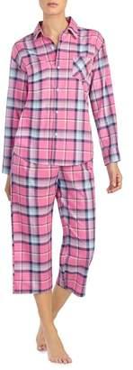Lauren Ralph Lauren 2-Piece Plaid Pajamas