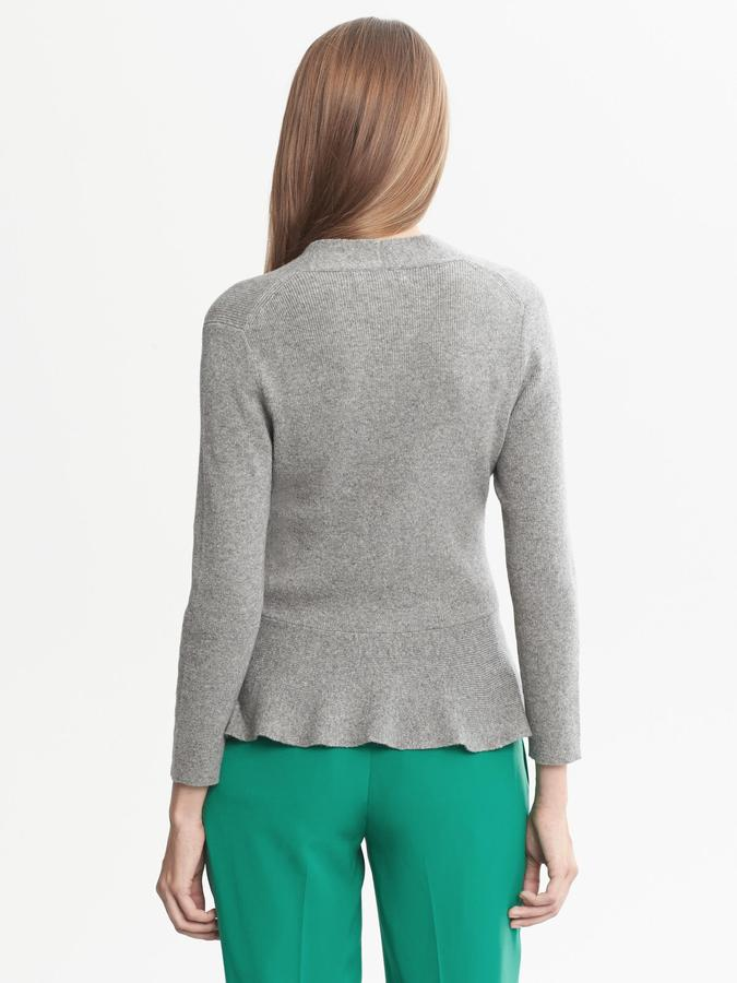 Banana Republic V-Neck Peplum Sweater