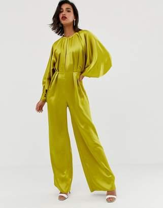 Asos Edition EDITION blouson sleeve satin jumpsuit