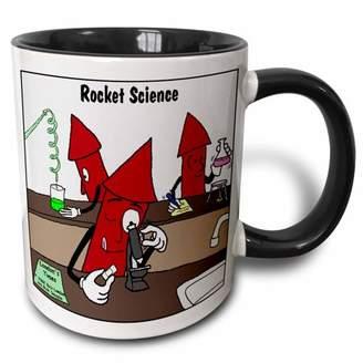 3dRose Rocket Science , Two Tone Black Mug, 11oz