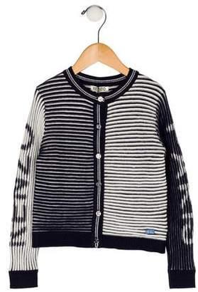 Kenzo Girls' Knit Striped Cardigan