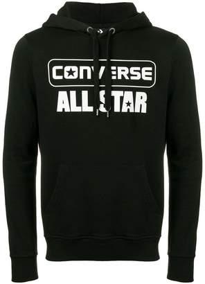 Converse logo print hoodie