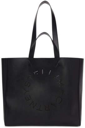 Black Circle Logo Shopper Tote