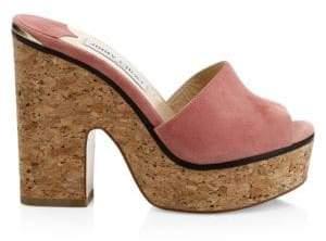 Jimmy Choo DeeDee Cork Platform Sandals
