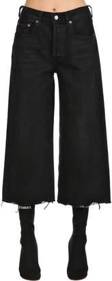 Levi's 501 Wide Leg Cotton Denim Jeans
