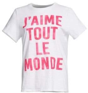 Cinq à Sept J'Aime Tout Le Monde Graphic Tee