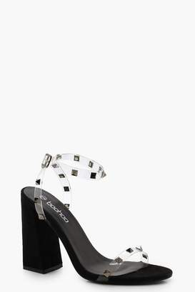 6a84e5a6fa5 Clear Block Heel Shoes - ShopStyle UK