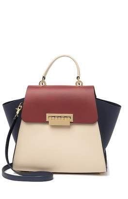 Zac Posen Eartha Colorblock Top Handle Leather Satchel