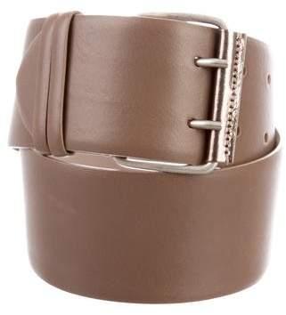 Brunello Cucinelli Leather Buckle Belt