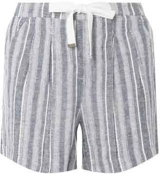 Dorothy Perkins Womens **Tall Black Striped Linen Shorts