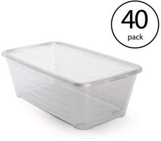 story. LIFE Life 6 Qt Rectangular Clear Plastic Protective Storage Shoe Box (40 Pack)