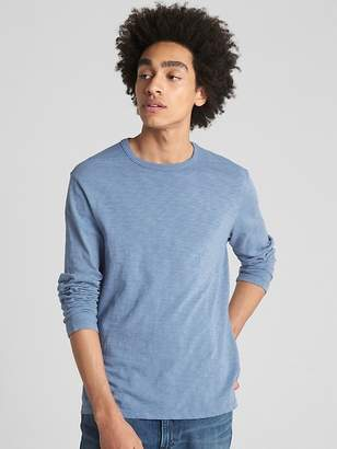 Gap Long Sleeve Pieced T-Shirt in Slub Cotton