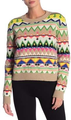 Paul & Joe Sister Wool Blend Print Sweater