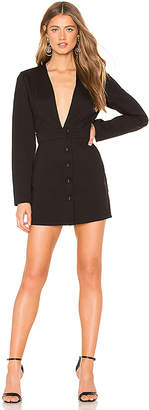 Krisa Deep V Blazer Dress