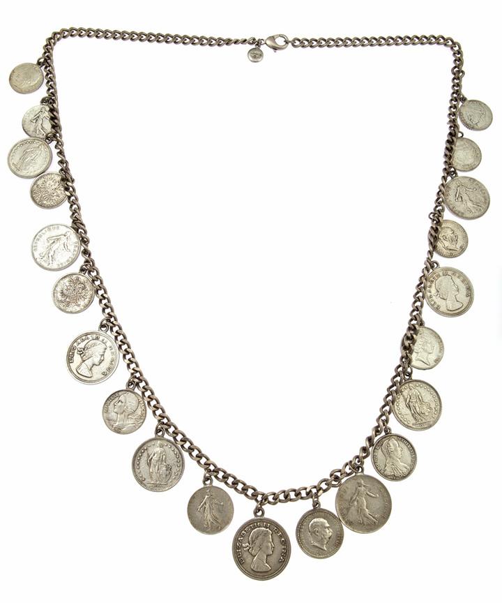 Ben-Amun Long Coin Necklace