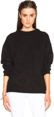 Acne Studios Dramatic Mohair Sweater in Black | FWRD