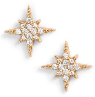 Argentovivo (アルジェントヴィボ) - Argento Vivo North Star Crystal Stud Earrings