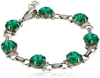 Sorrelli Essentials Crystal Ab Eyelet Line Bracelet