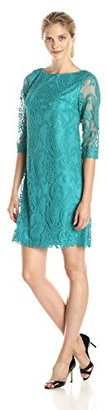 Jessica Howard Women's Three-Quarter-Sleeve Lace Dress $89.99 thestylecure.com