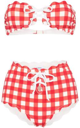 Marysia Swim gingham check bikini