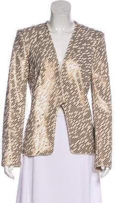 Halston Gold Sequined Blazer