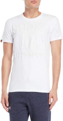 Superdry White Embossed Logo Tee