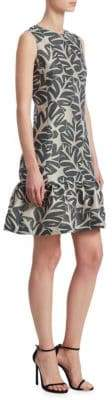Akris Punto Leaf Jacquard Dress