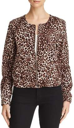 GUESS Leopard Print Bomber Jacket